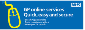 NHS GP online services graphic