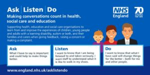 Ask Listen Do graphic