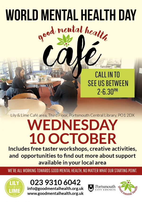 Good Mental Health cafe flyer 10 October 2018