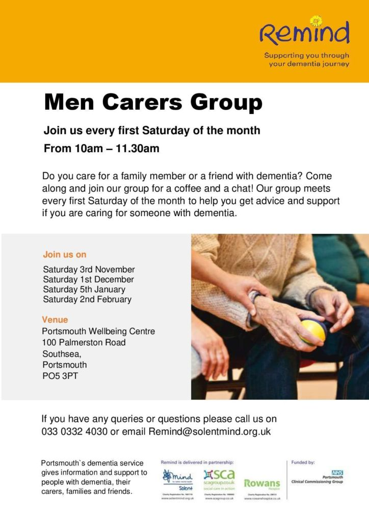 Remind men carers group flyer