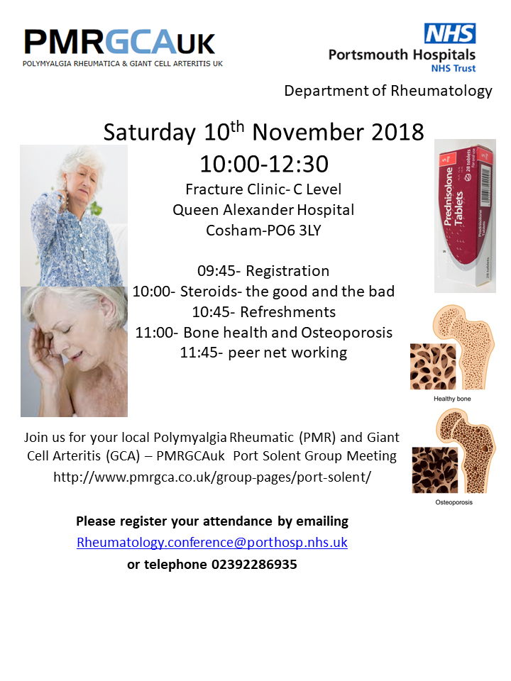 Queen Alexandra Hospital event 10 November 2018 flyer