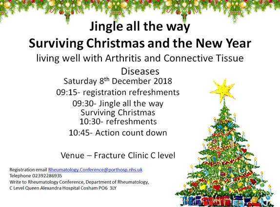 Jingle all the all way: Surviving Christmas and the New Year flyer