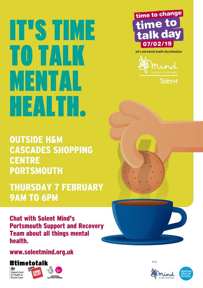 Solent Mind Time to talk mental health flyer