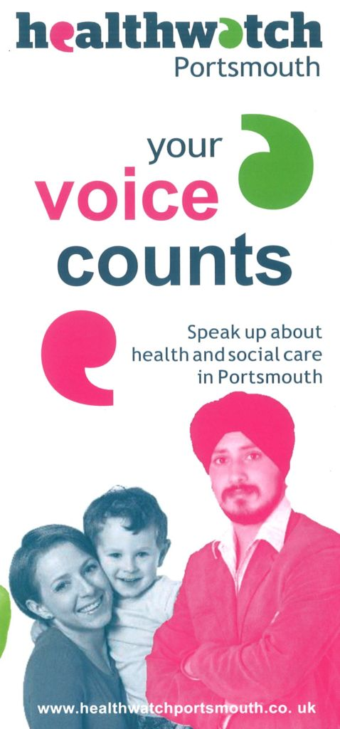 Health Watch Portsmouth Your Voice Counts leaflet